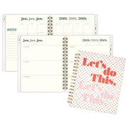 "Emily + Meritt Weekly/Monthly Planner, 12 Months, January Start, 8 3/4"" x 6 7/8"", Let's Do This (EM100-805-19)"