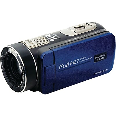 Image of Bell & Howell Bell+Howell DV20HDZ-BL 20.0-Megapixel 1080p Ultra-Zoom Camcorder (Blue)