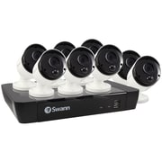 Swann SWNVK-875808-US 8-Channel 5-Megapixel NVR with 2TB HD & 8 True Detect Bullet Cameras with Audio (SCUNVK875808)