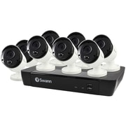 Swann SWNVK-885808-US 8-Channel 4K NVR with 2TB HD & 8 True Detect Bullet Cameras with Audio (SCUNVK885808)