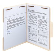 Smead SuperTab® Heavyweight Manila Fastener Folder, Reinforced 1/3-Cut Tab, Guide Height, Letter Size, 50 per Box (14545)