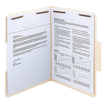 Smead SuperTab® Heavyweight Manila Fastener Folder, Reinforced 1/3-Cut Tab, Guide Height, Letter Size, 50 per Box (14545)