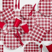 Creative Converting Red Gingham Picnic Supplies Kit (DTCRGING2A)