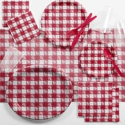 Creative Converting Red Gingham Deluxe Picnic Supplies Kit (DTCRGING2B)