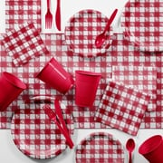Creative Converting Bulk Red Gingham Picnic Supplies Kit (DTCRGING2C)