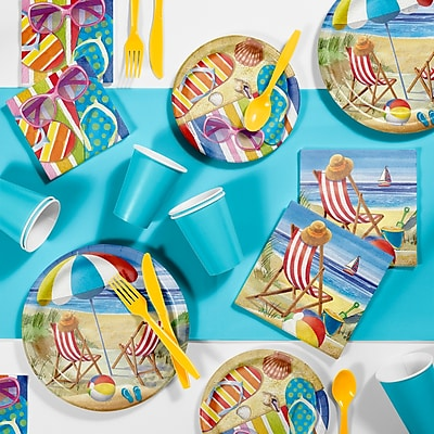 Creative Converting Beach Bliss Party Supplies Kit (DTC2886E2A)