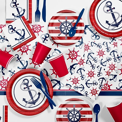 Creative Converting Anchors Away Party Supplies Kit (DTC2887E2A)