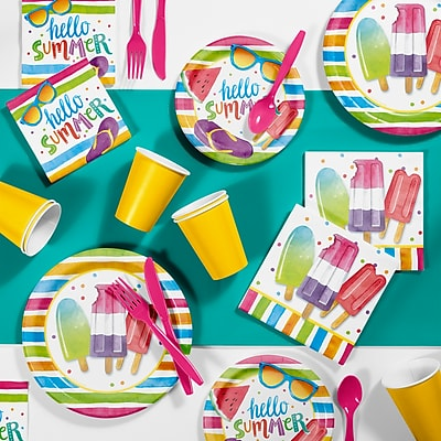 Creative Converting Hello Summer Party Supplies Kit (DTC2890E2A)