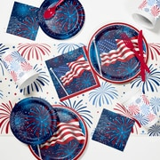 Creative Converting Fireworks Celebration 4th of July Party Supplies Kit (DTC2892E2A)