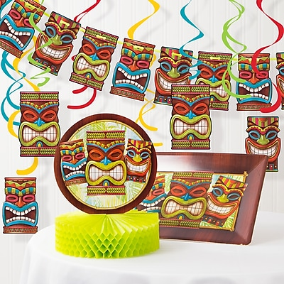 Creative Converting Tiki Time Luau Decorations Kit (DTC2897E1A)