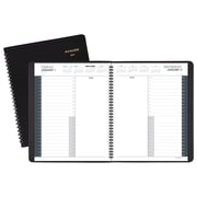 """2019 AT-A-GLANCE® 24-Hour Daily Appointment Book/Planner, 12 Months, January Start, 8 1/2"""" x 10 7/8"""", Black (70-214-05-19)"""
