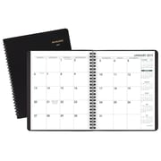 """AT-A-GLANCE® 24-Hour Daily Appointment Book/Planner, 12 Months, January Start, 8 1/2"""" x 10 7/8"""", Black (70-214-05-19)"""