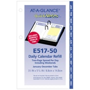 "2019 AT-A-GLANCE® QuickNotes® Daily Loose-Leaf Desk Calendar Refill, 12 Months, January Start, 3 1/2"" x 6"" (E517-50-19)"