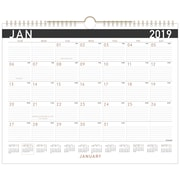 """2019 AT-A-GLANCE® Contemporary Monthly Wall Calendar, 12 Months, January Start, 14 7/8"""" x 11 7/8"""", Wirebound (PM8X-28-19)"""