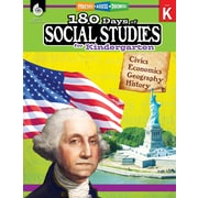 Shell Education 180 Days of Social Studies for Kindergarten Book (51392)