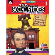 Shell Education 180 Days of Social Studies for First Grade Book (51393)