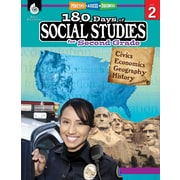 Shell Education 180 Days of Social Studies for Second Grade Book (51394)