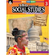 Shell Education 180 Days of Social Studies for Third Grade Book (51395)
