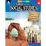 Shell Education 180 Days of Social Studies for Fourth Grade Book (51396)