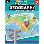 Shell Education 180 Days of Geography for Second Grade Book (28623)