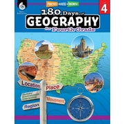 Shell Education 180 Days of Geography for Fourth Grade Book (28625)