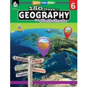 Shell Education 180 Days of Geography for Sixth Grade Book (28627)