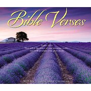"2019 Willow Creek Press 4.25"" x 5.25"" Bible Verses Box Calendar (03121)"