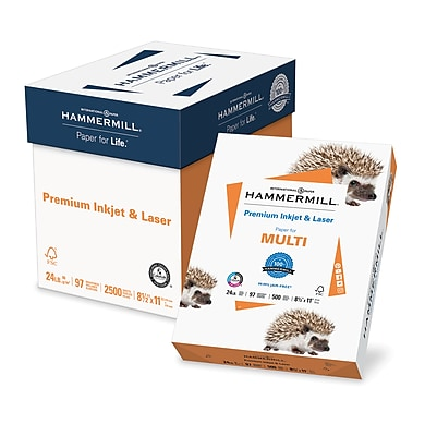 Hammermill Premium Inkjet and Laser Paper, LETTER-size, 97/110+ US/Euro Brightness, 24lb., 8 1/2