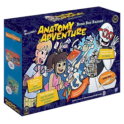 Know Yourself Skeletal System Bone Box Bazaar, Dr. Bonyfide's Anatomy Adventure (KWYAABONES)