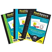 """Redi Space Composition1 Subject """"Notebook"""" 48 Sheets/Pack, 6/Packs, Asstorted (RS-48COMP)"""