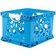 "Storex Premium File Crate with Handles, 17.25""L x 14.25""W x 10.5""H, Blue (STX61455U03C)"