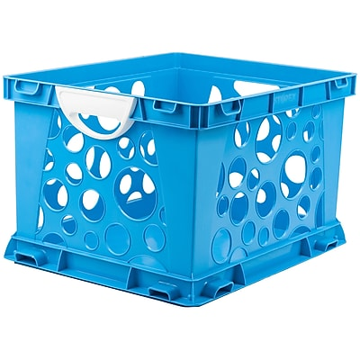 Storex Premium File Crate with Handles, 17.25