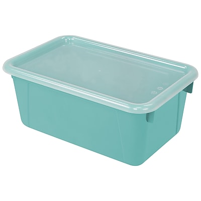 Storex Small Cubby Bin with Cover, 12.2