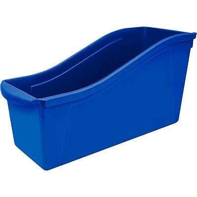 "Stores Large Book Bin, 14.3""L x 5.3""W x 7""H, Blue, Set of 6 (STX71101U06C)"