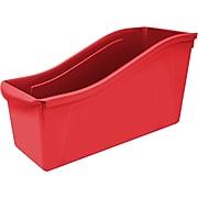 "Storex Large Book Bin, 14.3""L x 5.3""W x 7""H, Red, Set of 6 (STX71102U06C)"