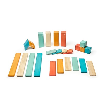Tegu Wooden Sunset set, Assorted, 24 Pieces (TEG24PSNS508T)