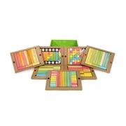 Tegu Magnetic Wooden Tints Classroom Kit, Assorted, 240 Pieces (TEG240PTNT608T)