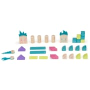 Tegu Magnetic Wooden Beans & Tumtum Block Set, Assorted, 30 Pieces (TEGBTMMSM605T)