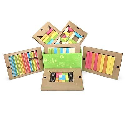 Tegu Wooden Classroom Block Kit, Assorted, 130 Pieces (TEGK12001SJG