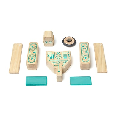 Tegu Wooden Magbot Block Set, Assorted, 9