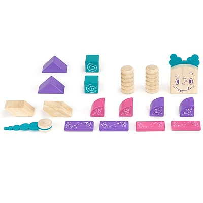 Tegu Wooden Marbles Block Set, Assorted, 18 Pieces (TEGMRBMSM605T)