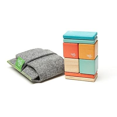 Tegu Wooden Blocks Sunset Original Pocket Pouch, Assorted, 8 Pieces (TEGPOPSNS508T)