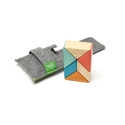 Tegu Wooden Magnetic Sunset Pocket Pouch Prism, Assorted, 6 Pieces (TEGPPPSNS508T)