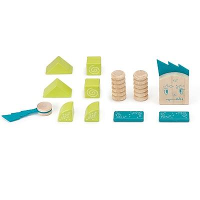 Tegu Wooden Zip Zap Block Set, Assorted, 12 Pieces (TEGZPZMSM605T)