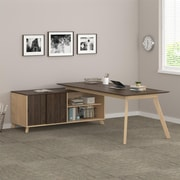 Ameriwood AX1 L-Shape Desk, Walnut (9291096COM)