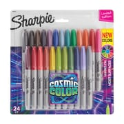 Sharpie Permanent Markers, Fine Point, Cosmic Color, Limited Edition, 24 Count (2033573)