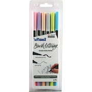 Uchida Pastel Le Plume II Double-Ended Brush Lettering Marker Set 6/Pkg (1122BL-6L)