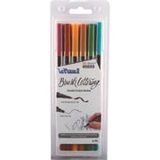 Uchida Natural Le Plume II Double-Ended Brush Lettering Marker Set 6/Pkg (1122BL-6M)