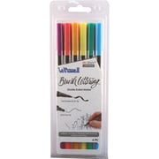 Uchida Bold Le Plume II Double-Ended Brush Lettering Marker Set 6/Pkg (1122BL-6N)