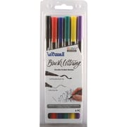 Uchida Primary Le Plume II Double-Ended Brush Lettering Marker Set 6/Pkg (1122BL-6J)